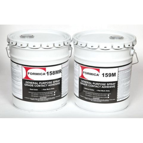 Choice Brands Formica Brand Adhesives Economy Spray Grade Flammable Contact Adhesive, 5 gal