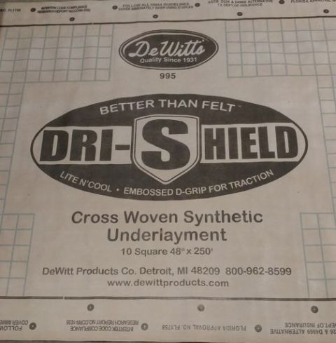 "Dr-Shield Underlayment 48"" x 250'"