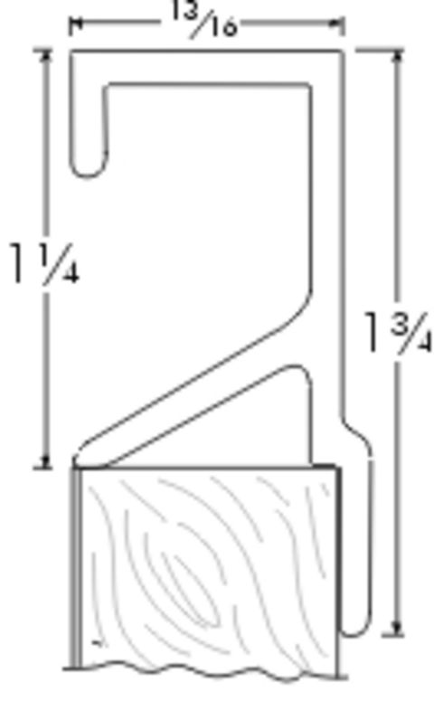 Engineered Products Architectural Edge Pull - 3 in Center-to-Center