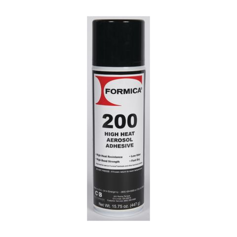 Choice Brands Formica Brand Adhesives High Heat Aerosol Adhesive, 16 oz, Clear