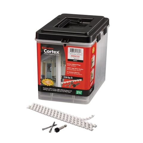 Cortex  Hidden Fastening System for Versatex Trim - Smooth