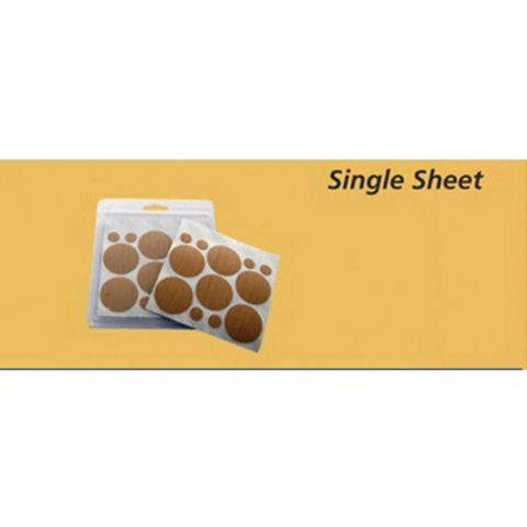 FastCap PVC Peel and Stick Castle Caps - 1-5/8 in (500 Sheets)
