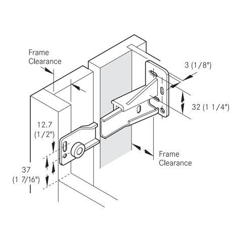 Grass 6600 Adapter Brackets - Right