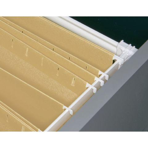 Grass Zargen Lateral File Clip, White