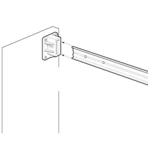 Grass Zargen Partition Bracket, White
