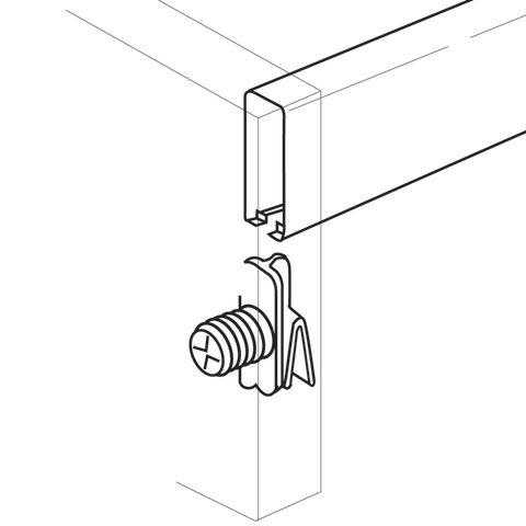 Grass 10 mm Dowelled Front Railing Clip