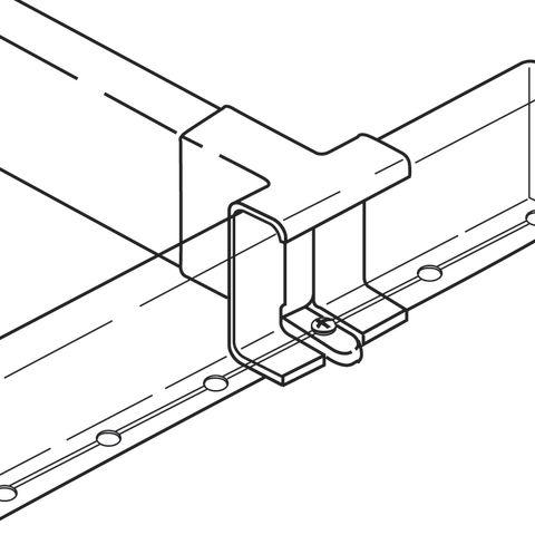 Grass Divider Railing Clip, White