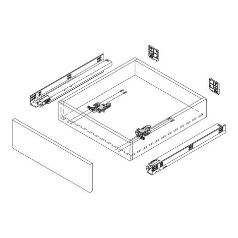 "Dynapro 18"" Full Extension Undermount Soft Close 132 lb HD Drawer Slide - 3-D Adj for 5/8"" Drawer"