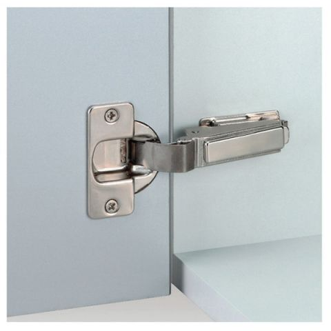 Grass Nexis Screw-On Self Close 95 deg 48 mm Boring Hinge, 40 mm Cup, Half Overlay, Cranking 08