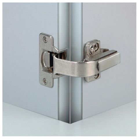 Grass Nexis Dowelled Self Close 45 mm Boring Pie-Cut Corner Hinge, Nickel Plated