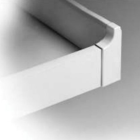 Grass Roll-Out Tray Bracket, 2-5/16 in, White