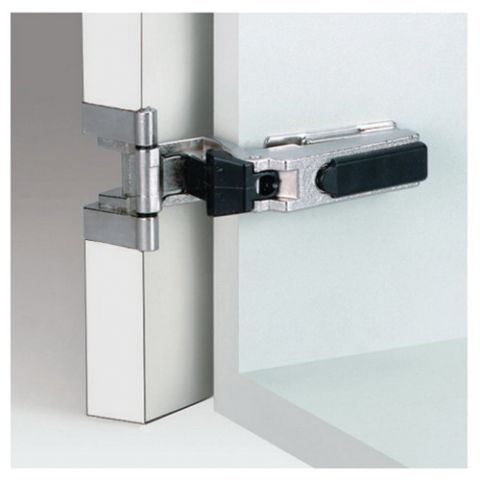 Grass Nexis 73 Dowelled Hold Close 270 deg 48 mm Boring Single-Joint Institutional Hinge, Full Overlay, Cranking 00, 16 mm