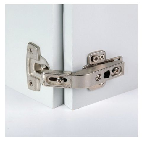 Grass Nexis 21 Screw-On 42 mm Pattern Self Close Pie-Cut Corner Hinge with Full Cup Recess, Nickel Plated