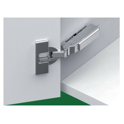 Tiomos 110° Dowelled Self-Close Hinge for Standard Doors - 42 mm Boring Hinge, Half Overlay, Cranking 9.5 mm