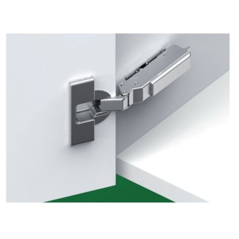 Tiomos Dowelled Self Close 120° 45 mm Boring Hinge, Half Overlay, Cranking 9.5 mm