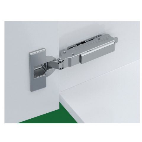 Tiomos Dowelled Self Close 95° 42 mm Boring Hinge, Half Overlay, Cranking 9.5 mm
