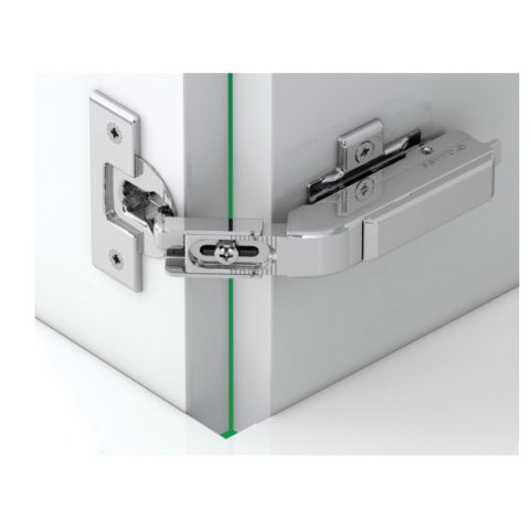 Tiomos Dowelled Self Close 65° 42 mm Boring Pie-Cut Corner Cabinet Hinge, Overlay