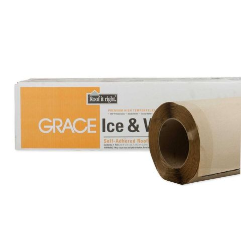 Ice & Water Shield HT Roofing Underlayment 36 inch x 66.6 ft Roll - 200 sq ft
