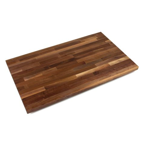 John Boos American Black Walnut Blended Butcher Block Top -  1-1/2 in Thick