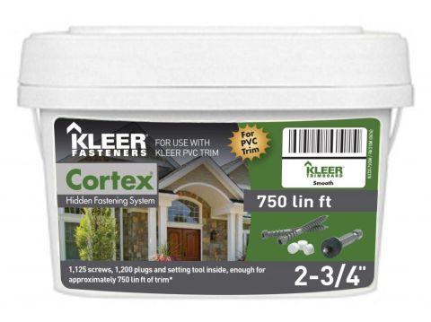 Cortex Hidden Fasteners for Kleer PVC Trim