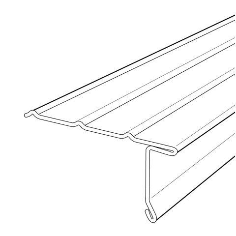 """Rollex 1-1/2"""" Aluminum Overhanging Drip Edge - 0.019 Gauge"""