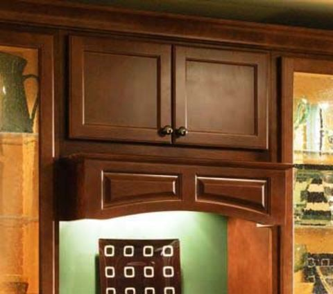 Omega Accent Wood Range Hood - Arched Valance