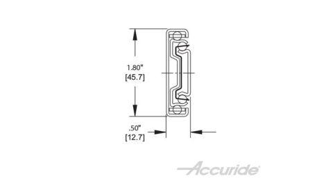Accuride 3832E 100 lb Light-Duty Full Extension Slide