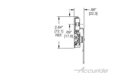 Accuride 1432 75 lb Light-Duty Slide For Tall Pocket Doors without Hinges