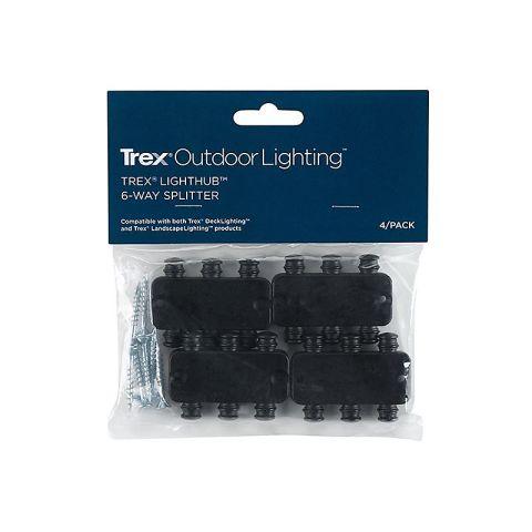 Trex DeckLighting LightHub 6 Way LightHub Splitter - 4 Pack