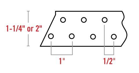 "Klauer 1-1/4"" Flat-Strap Wall Bracing"