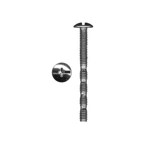 QuickScrews Break Away Zinc Plated #2 Phillips Truss Head Blunt Point Knob and Pull Machine Screw, #8-32