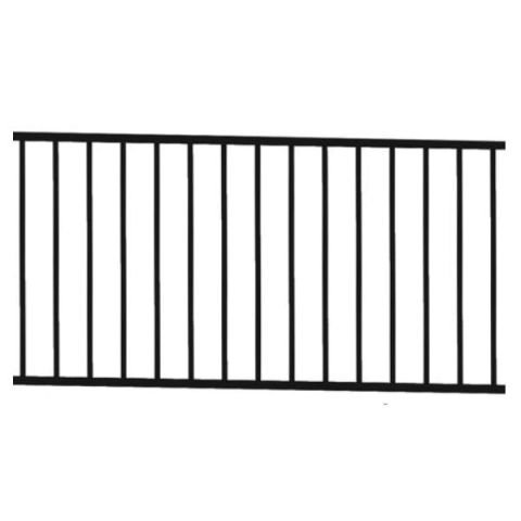 "Metal Works® Excalibur® Level Rail Panel with Square Balusters - 42"" or 44"" Rail Height"
