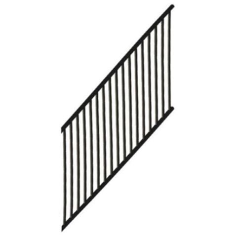 Metal Works® Excalibur®  Stair Rail Panel with Square Balusters - 36 or 38 in Finished Rail Height