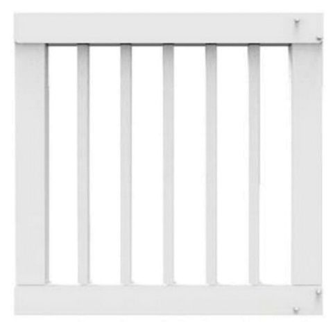 Crossover Custom Width Gate Kit with 1 in Square Balusters - 36 in Finished Height