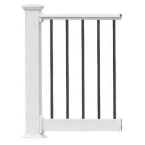 Endurance Original Rail Level Rail Kit with 3/4 in Round Aluminum Balusters (No Bottom Aluminum) - 36 in Height