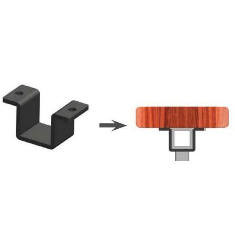 Metal Works® Excalibur® Steel Top Cap Flush Bracket Kit