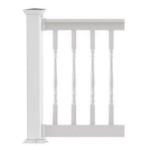 "Finyl Line T-Top Level Rail Kit with 1-1/2"" Turned Balusters - 36"" Rail Height"
