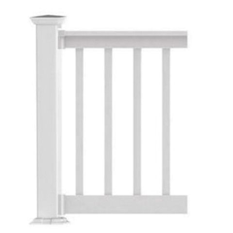 Finyl Line Deck Top Level Rail Kit with 1-1/2 in Square Balusters - 42 in Finished Rail Height