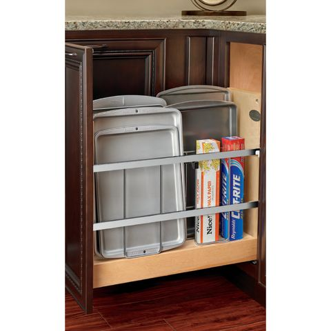 "Rev-A-Shelf Base Cabinet 8"" Foil Wrap Holder / Tray Divider with Blumotion Slides"