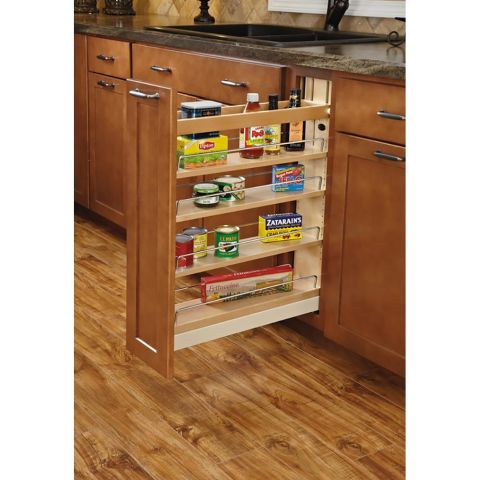 Rev-A-Shelf Base Cabinet Pull-Out Organizer - Soft-Close Ball Bearing Slides