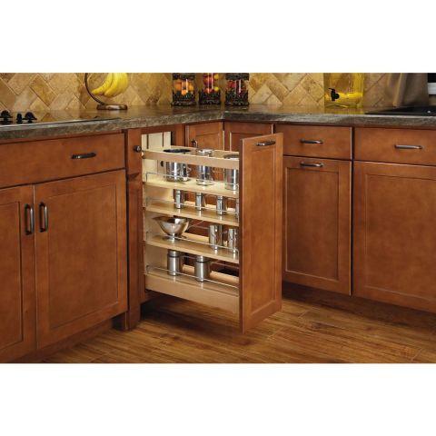 Rev-A-Shelf Base Cabinet Pull-Out Organizer - Soft-Close Slide