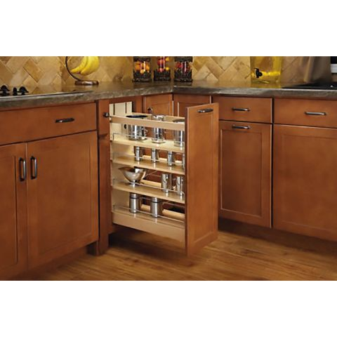 Rev-A-Shelf Base Cabinet Pull-Out Organizer - Soft-Close Slide