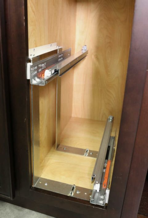 449 Series Base Cabinet Bottom and Side Mount Pullout Organizer (Faceframe Cabinets)
