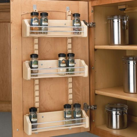 Rev-A-Shelf 4ASR Series Adjustable Door Mount Spice Rack
