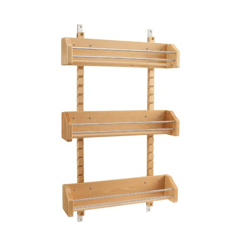4ASR Series Wood Adjustable Door Mount Spice Rack - Bin Only