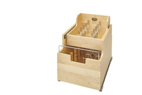 Two-Tier Wood Cookware Organizer