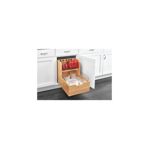 4FSCO Series Base Cabinet Pullout Food Storage Container Organizer
