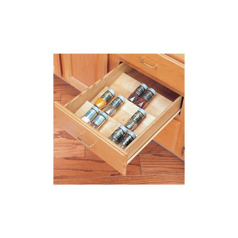 Rev-A-Shelf 4SDI Series Cut-To-Size Wood Spice Drawer Insert