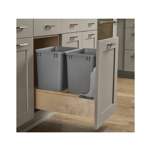 Wood Bottom Mount Double 35 QT Waste Container with Rev-A-Motion™