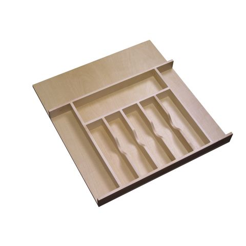 Rev-A-Shelf 4WCT Series Wood Shallow Height Cutlery Tray Insert